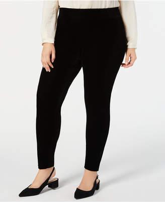 JM Collection Plus Size Velvet Leggings