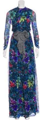 Matthew Williamson Silk Chiffon Maxi Dress