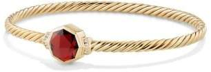 David Yurman Guilin Octagon Bracelet With Garnet And Diamonds In 18K