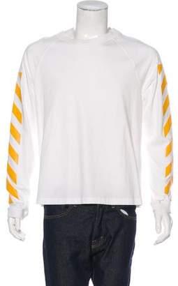 Moncler Diagonals Crewneck Pullover Sweatshirt