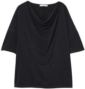 MANGO Draped neckline t-shirt