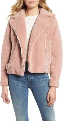 Mother Faux Fur Moto Jacket