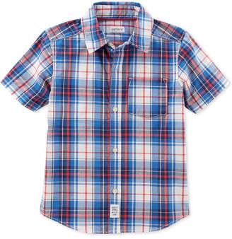 Carter's Woven Plaid Cotton Shirt, Little Boys