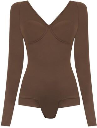 AMIR SLAMA long sleeved bodysuit