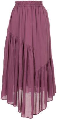 Ne Quittez Pas asymmetric flared skirt