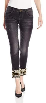 Desigual Women's Denim Long Trouser, Black Wash