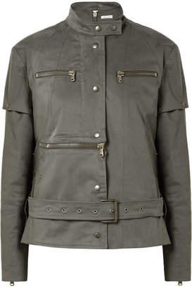 Tomas Maier Convertible Cotton-blend Jacket - Army green