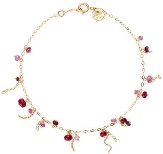 Sweet Pea Pogo Ruby Punk Bracelet - Yellow Gold