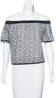Rag & Bone Off-The-Shoulder Printed Top