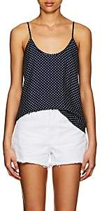 ATM Anthony Thomas Melillo Women's Polka Dot Silk Cami - Navy
