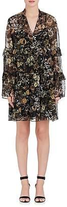 Robert Rodriguez Women's Vintage Garden Silk Chiffon Peasant Dress