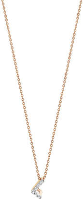 The Alkemistry Letter L 14ct rose gold and diamond necklace, Rose gold