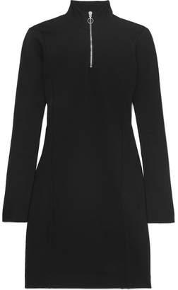 Ninety Percent Roma Stretch-jersey Turtleneck Mini Dress - Black