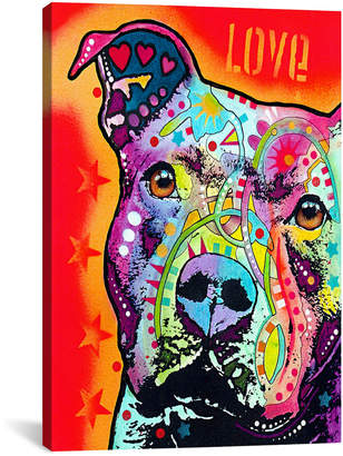 iCanvas Icanvasart Thoughtful Pit Bull Canvas Wall Art