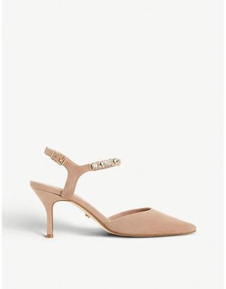 Dune Chrystall embellished kitten heels