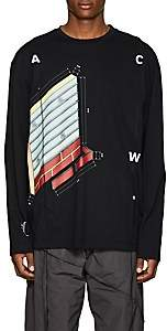 A-Cold-Wall* Men's Brick-Graphic Cotton Long-Sleeve T-Shirt - Black