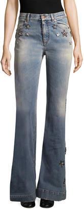 Roberto Cavalli Star Applique Flared Pant