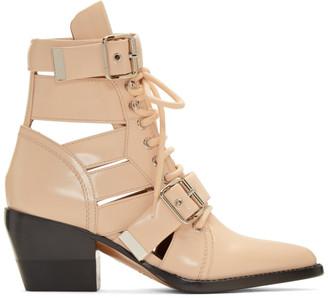 Chloé Pink Rylee Medium Boots