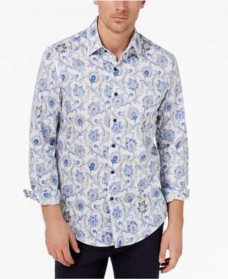 Tasso Elba Men's Paisley-Print Shirt, Created for Macy's