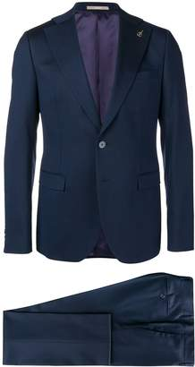 micro pattern two-piece formal suit