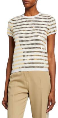 Ralph Lauren Sequin-Striped Sweater