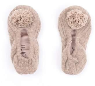 Quinn Pom Pom Cashmere Slippers