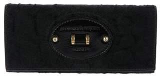 Alexander McQueen Leather-Trimmed Ponyhair Wallet