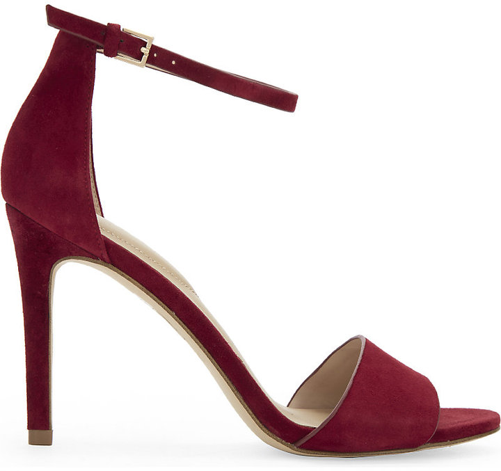 Aldo Fiolla suede heeled sandals