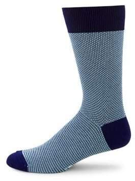 Black & Brown Black Brown Patterned Crew Socks