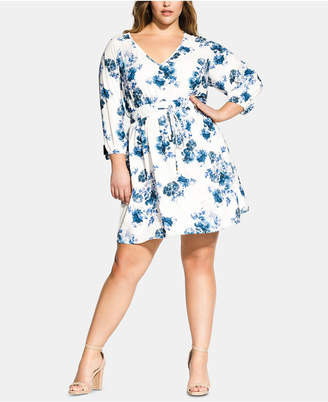 ae47a321180 City Chic Trendy Plus Size Floral Printed Tunic Dress