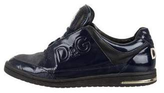Dolce & Gabbana Patent Leather Low-Top Sneakers