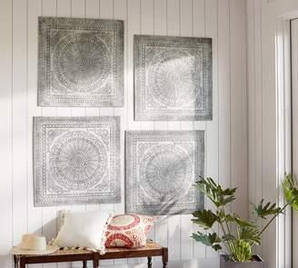 Pottery Barn Pressed Tin Tiles Wall Art