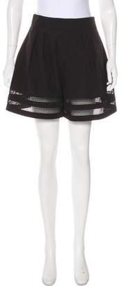 Jonathan Simkhai Mesh-Trimmed High-Rise Shorts w/ Tags