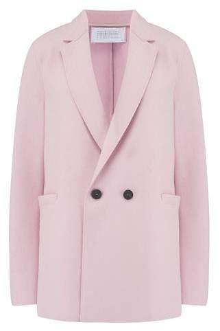 Wool Blazer in Blush Pink