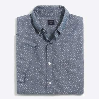 J.Crew Factory Slim short-sleeve printed chambray shirt