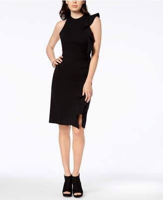Bar III Ruffle Ponte-Knit Sheath Dress, Created for Macy's