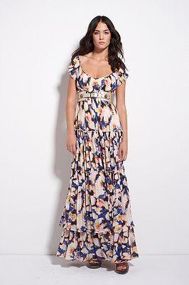 Claudie Dress in Sea Lilies