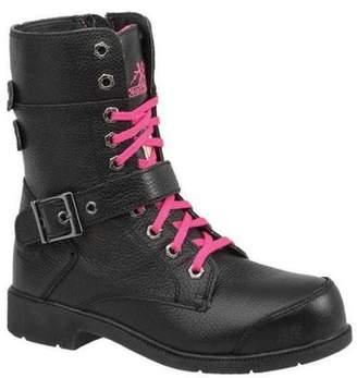 Moxie Trades Size 5 Aluminum Toe Work Boots, Women's, Black, EE, 50131
