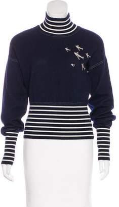 Chanel Embellished Cashmere-Blend Top