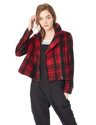 Jack by BB Dakota Junior's Out of The Woods Plaid Wool-Like Jacket