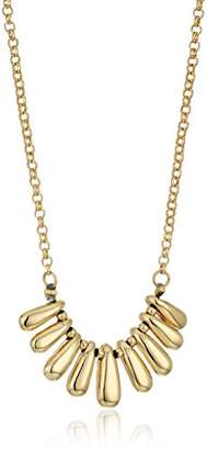 Laundry by Shelli Segal Metal Petal Frontal Pendant Necklace