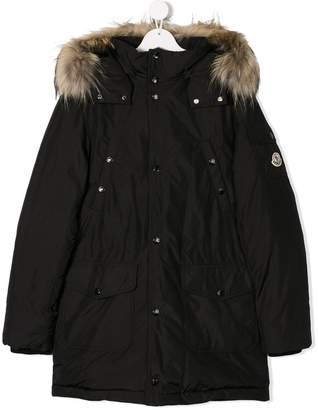 Moncler TEEN hooded parka coat