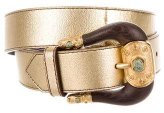 Valentino Metallic Leather Belt