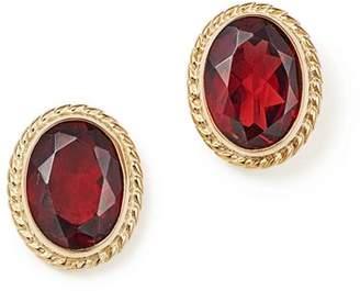Bloomingdale's Garnet Oval Bezel Stud Earrings in 14K Yellow Gold - 100% Exclusive