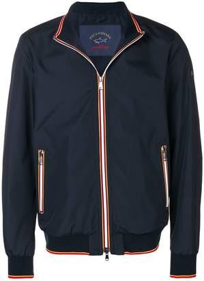 Paul & Shark tricolour-trim bomber jacket