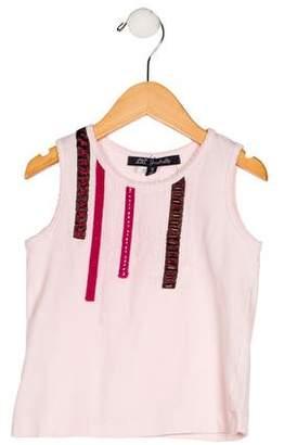 Lili Gaufrette Girls' Embellished Knit Top