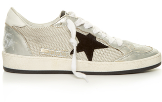 GOLDEN GOOSE DELUXE BRAND Ball Star low-top cord trainers $410 thestylecure.com