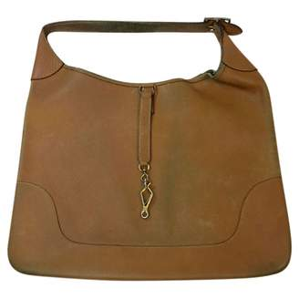 Hermes Vintage Trim Camel Leather Handbag