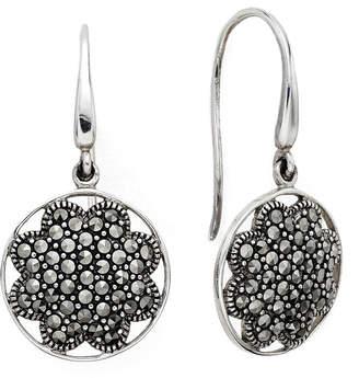 JCPenney FINE JEWELRY Pav Marcasite Sterling Silver Drop Earrings
