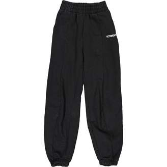 Vetements Black Cloth Trousers